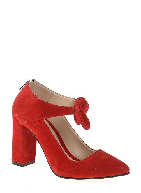 Bambi Kalın Topuklu Ayakkabı Kırmızı